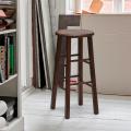 Sgabello in legno massello rotondo alto per bar e cucina BERLIN - prezzo