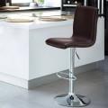 Sgabello alto da bar e cucina regolabile con schienale COLUMBUS Design - arredamento
