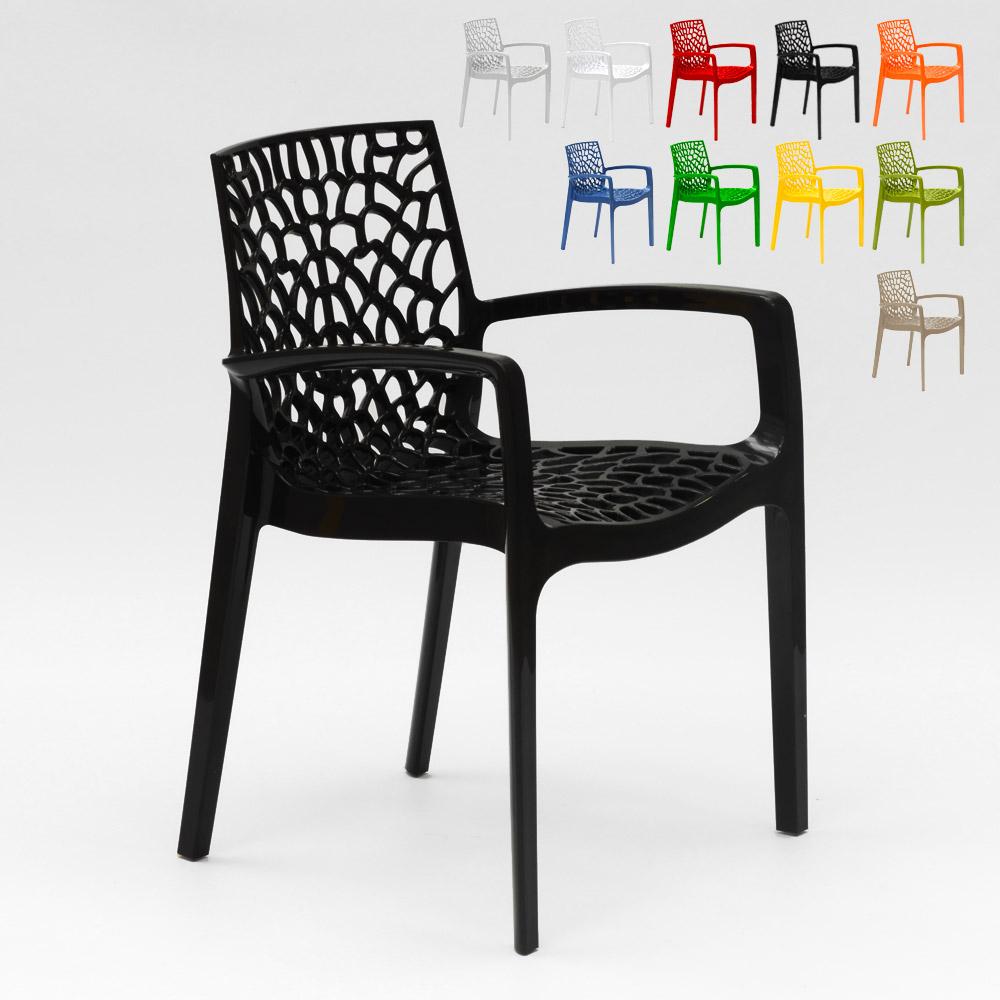 Sedie In Polipropilene Colorate.Sedia Con Braccioli In Polipropilene Cucina Bar Gruvyer Grand Soleil