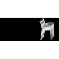 22 Sedie Gruvyer ARM Grand Soleil braccioli polipropilene lucido offerta stock - nuovo