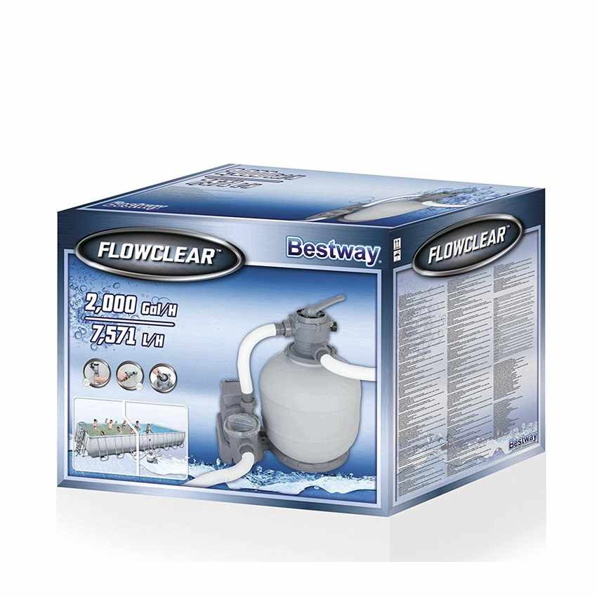 Bestway 58366 Pompa Filtro a Sabbia per Piscina Fuori Terra Intex - interno