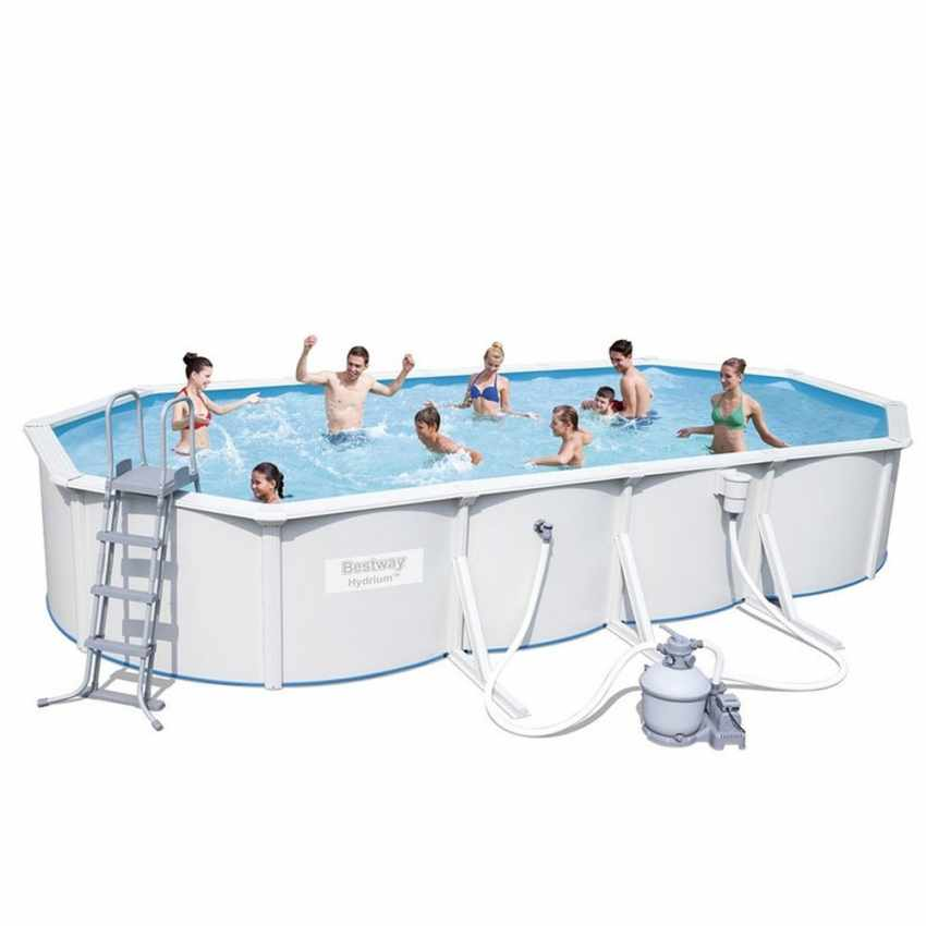 Piscina fuori terra hydrium bestway 56604 ovale 360x120cm for Piscine fuori terra best way