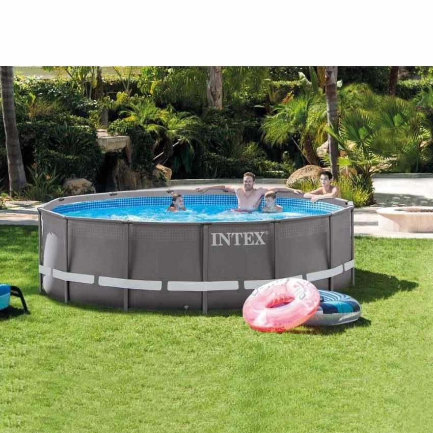 Piscina fuori terra ultra frame rotonda 427x107cm intex - Filtri per piscine fuori terra ...