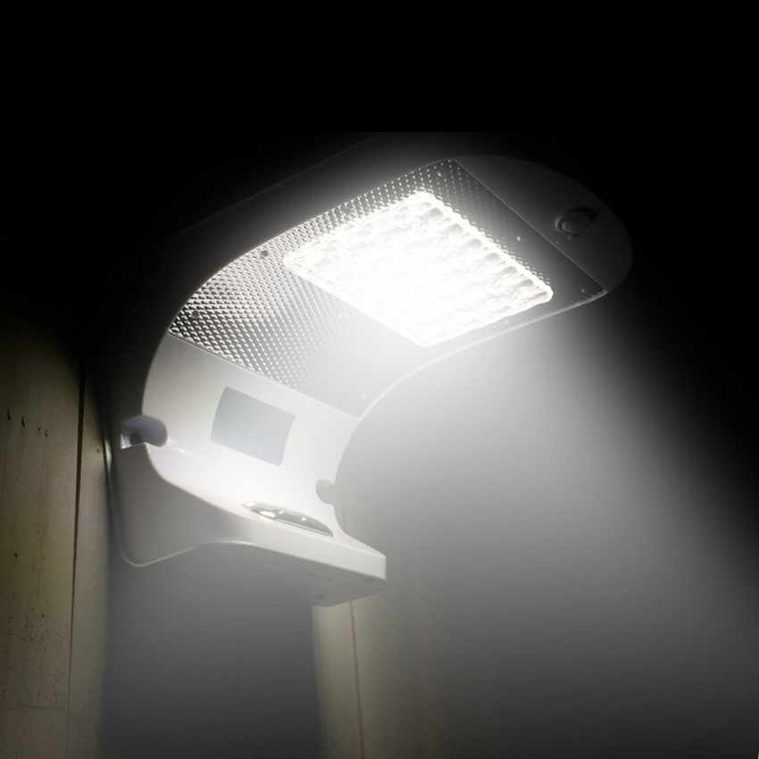 LR006LED - Applique lampada muro luce led solare giardino esterno sensore movimento REFLEX 28 Led - blu