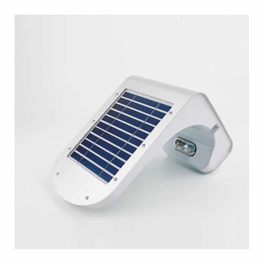 LR006LED - Applique lampada muro luce led solare giardino esterno sensore movimento REFLEX 28 Led - crema