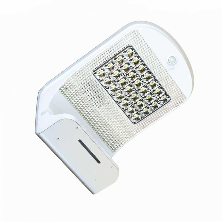 LR006LED - Applique lampada muro luce led solare giardino esterno sensore movimento REFLEX 28 Led - bianco