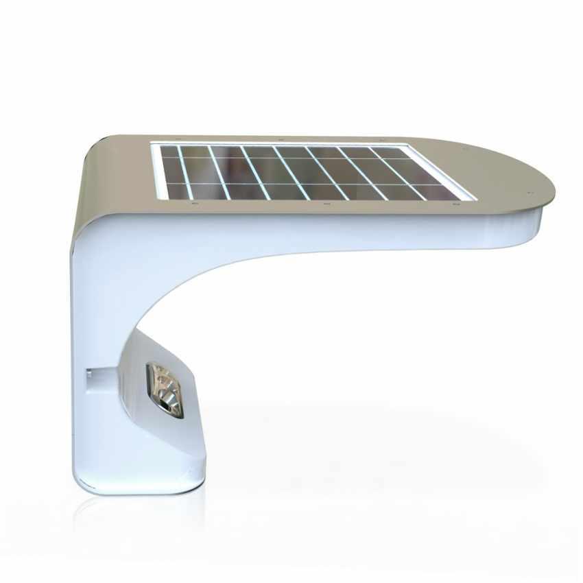 LR006LED - Applique lampada muro luce led solare giardino esterno sensore movimento REFLEX 28 Led - economico