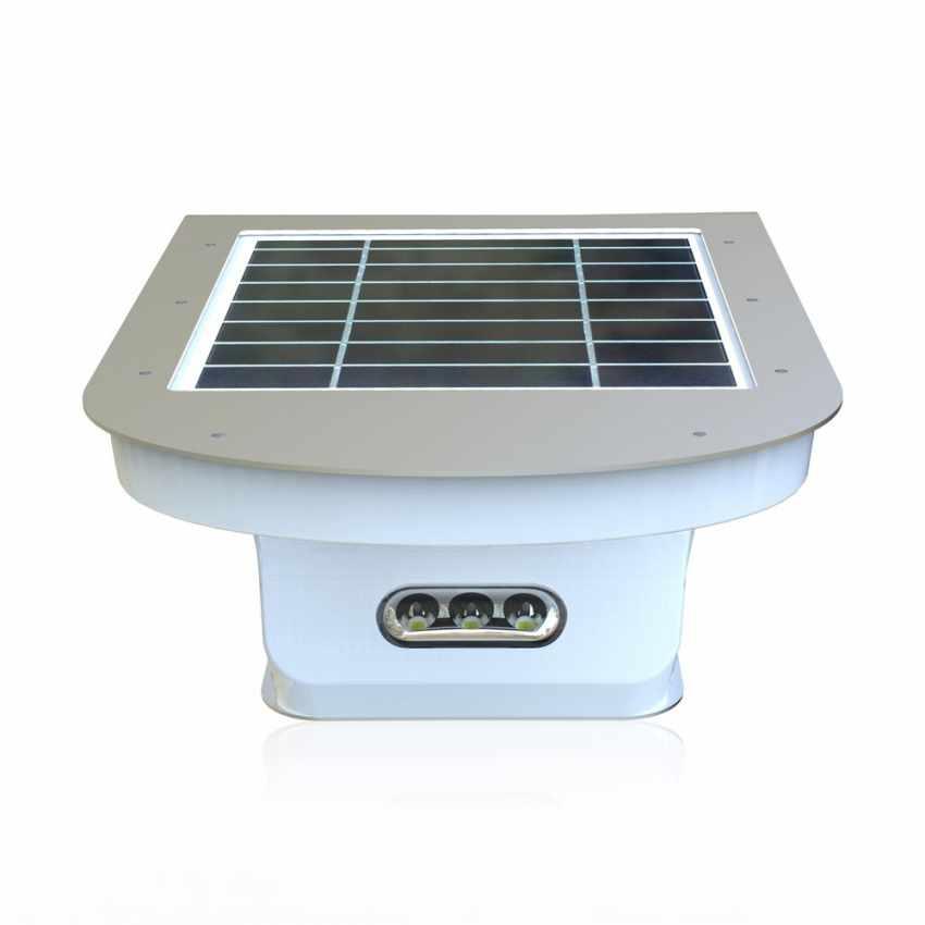 LR006LED - Applique lampada muro luce led solare giardino esterno sensore movimento REFLEX 28 Led - particolare