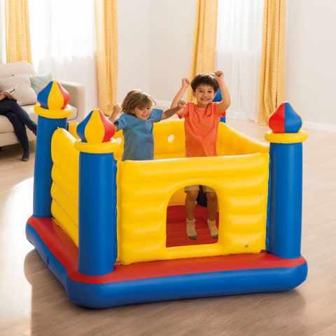 48259 - Castello gonfiabile bambini Intex 48259 Jump-O-Lene saltarello gioco salto - blu