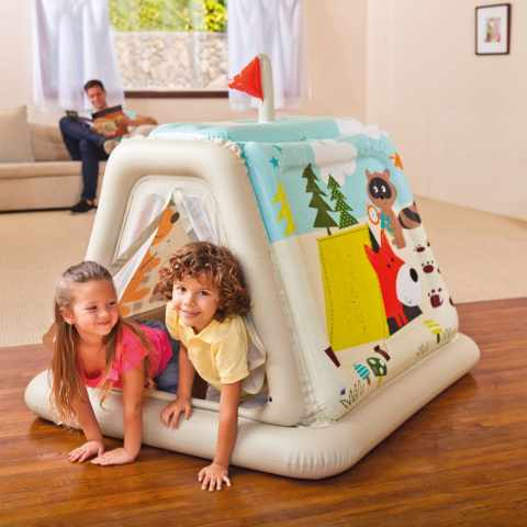48634 - Casetta tenda gonfiabile bambini Intex 48634 casa giardino - giallo
