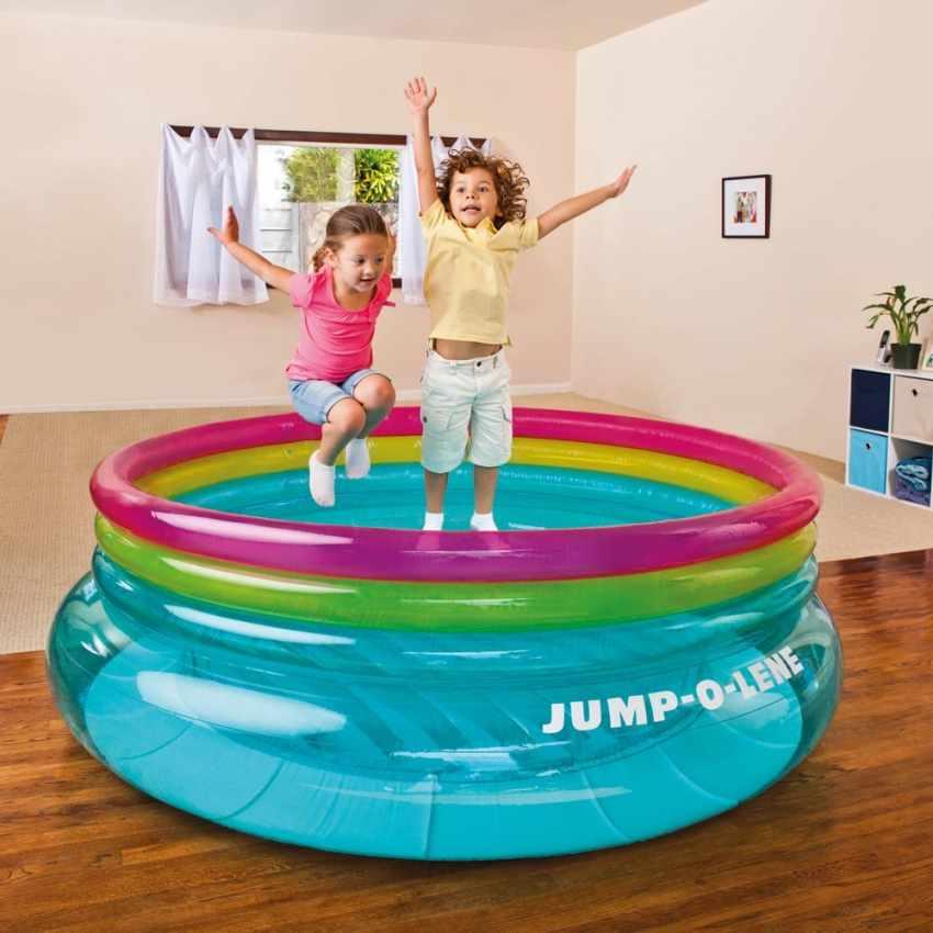 trampolino elastico salterello gonfiabile intex 48267