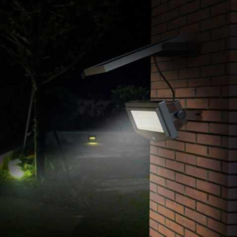LF044LED - Faretto a muro luce led solare giardino sensore movimento FLEXIBLE NEW - outlet