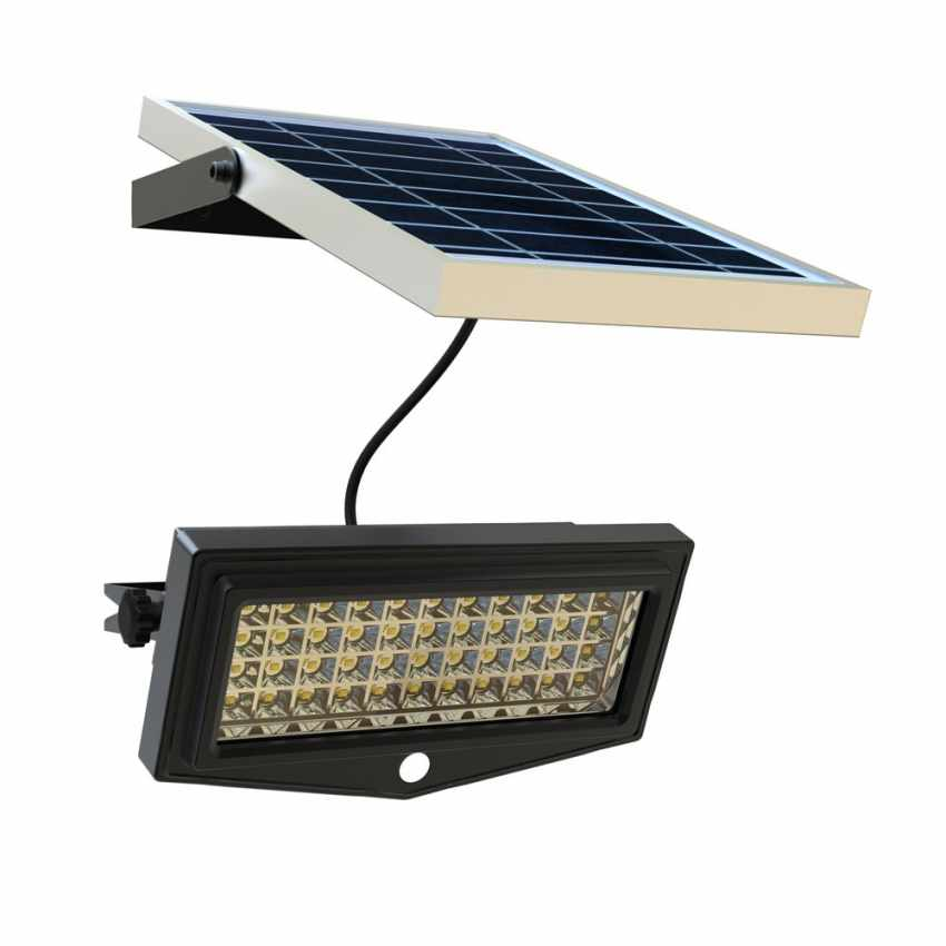 LF044LED - Faretto a muro luce led solare giardino sensore movimento FLEXIBLE NEW - beige