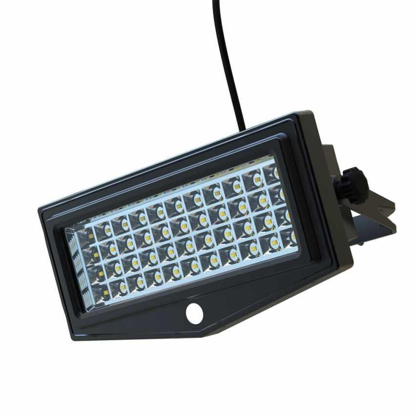 LF044LED - Faretto a muro luce led solare giardino sensore movimento FLEXIBLE NEW - fronte
