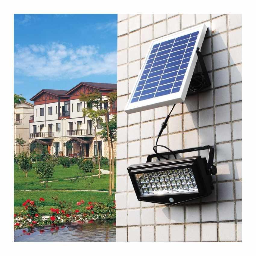 LF044LED - Faretto a muro luce led solare giardino sensore movimento FLEXIBLE NEW - rosa