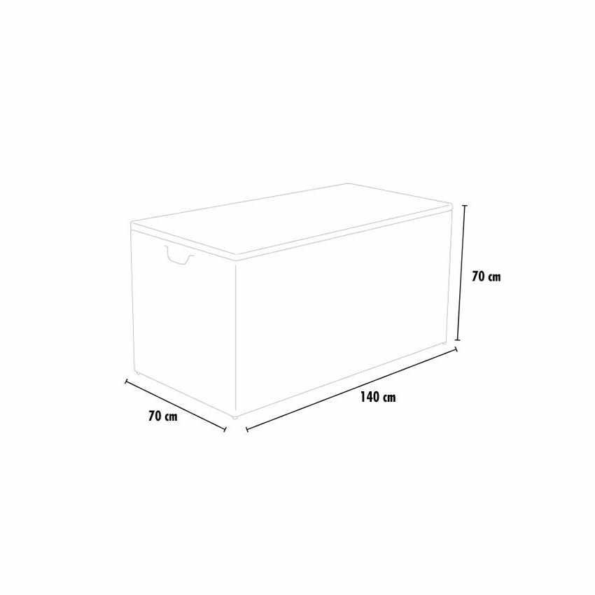 Contenitore per Cuscini da Giardino per Salotti da Esterno STORAGE BOX - esterno