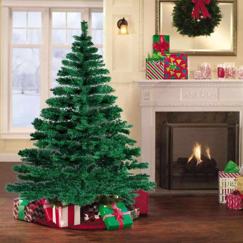 Albero di Natale Sintetico Ecologico Artificiale 180cm CORTINA - fotos