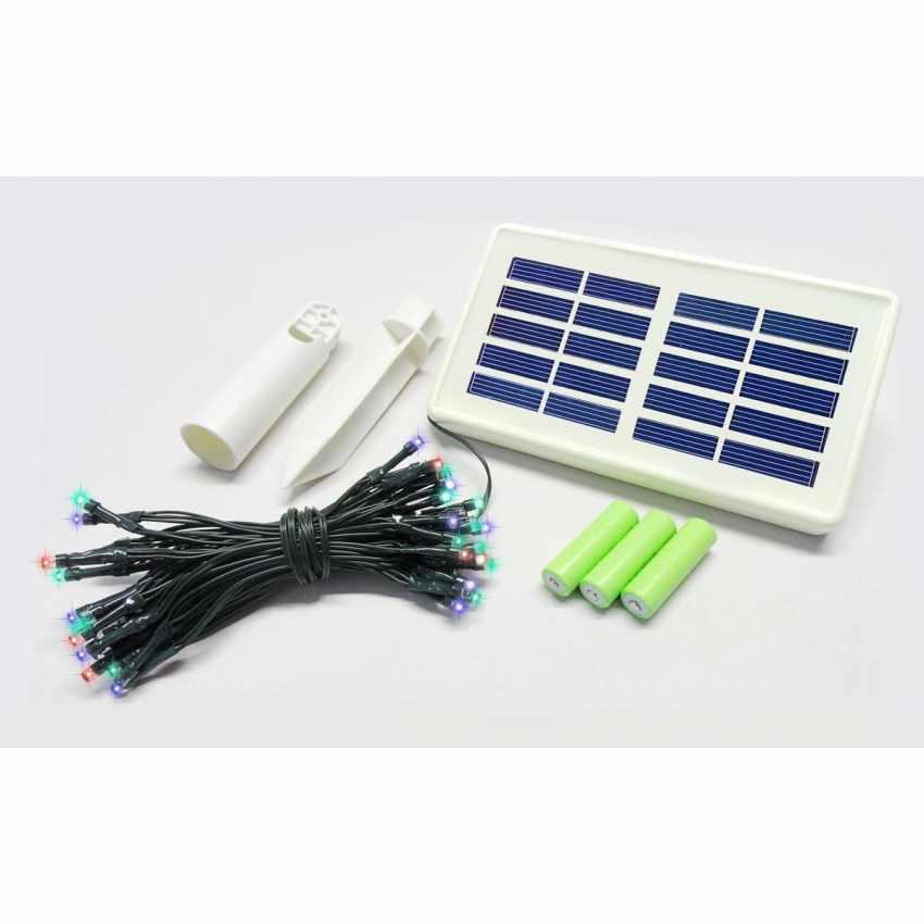 SO100 - Luci di Natale esterno led energia solare batteria lunga durata pannello 100 led albero balcone - azzurro