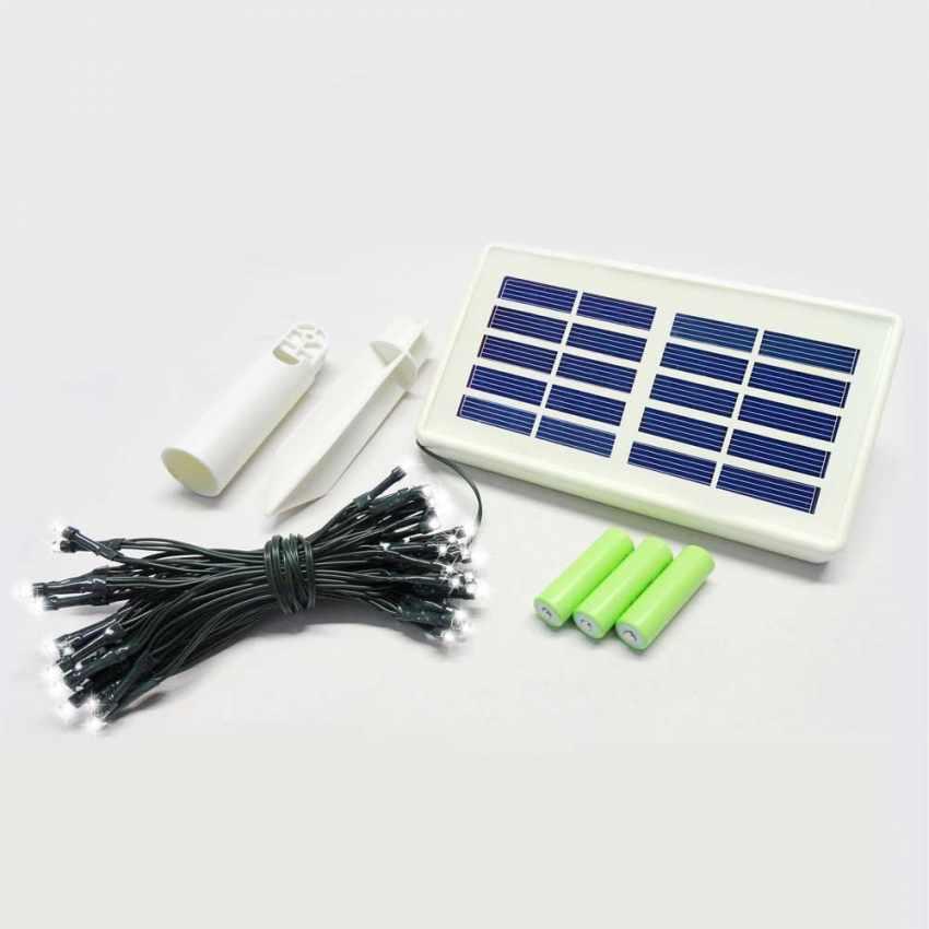 Pannello Solare Per Luci Natale : Luminarie natalizie rete di led a energia solare
