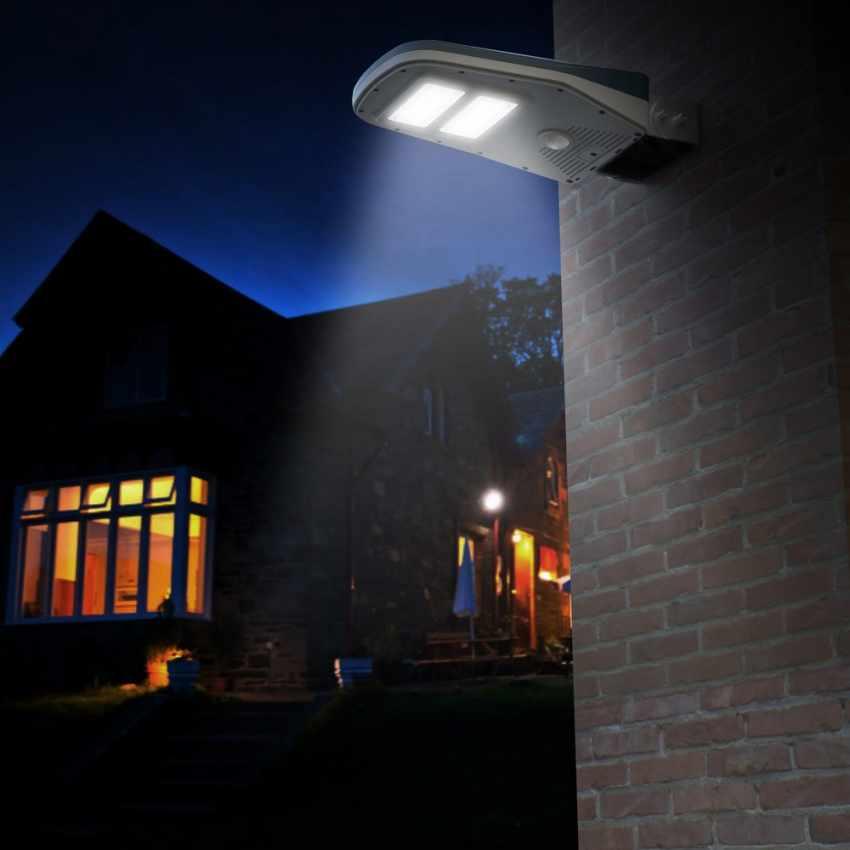 lampione led solare led telecomando sensori