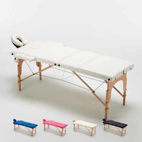 lettino da massaggio grande pieghevole bianco
