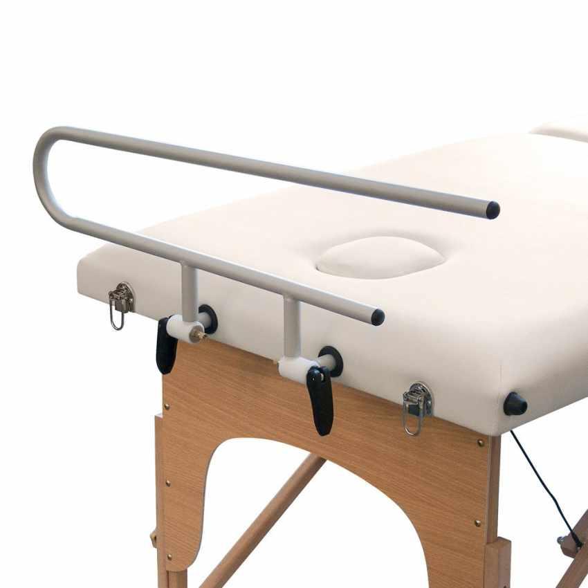 supporto portarotolo alluminio lettino massaggio loader richiudibile