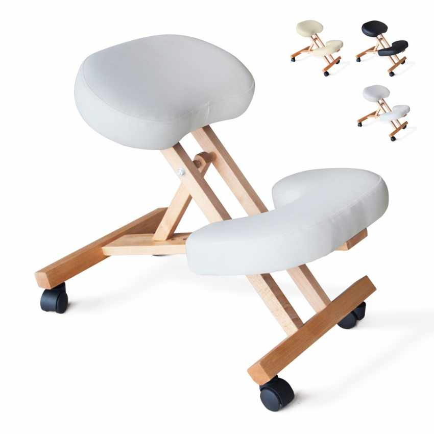 sedia ortopedica svedese bianca