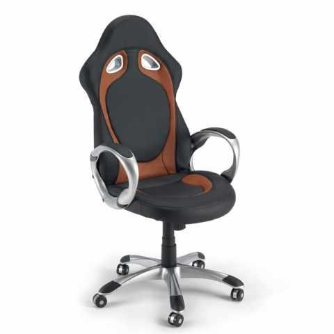 SU130RAC - Poltrona racing sedia ufficio sportiva gaming ecopelle ergonomica RACE - dettaglio
