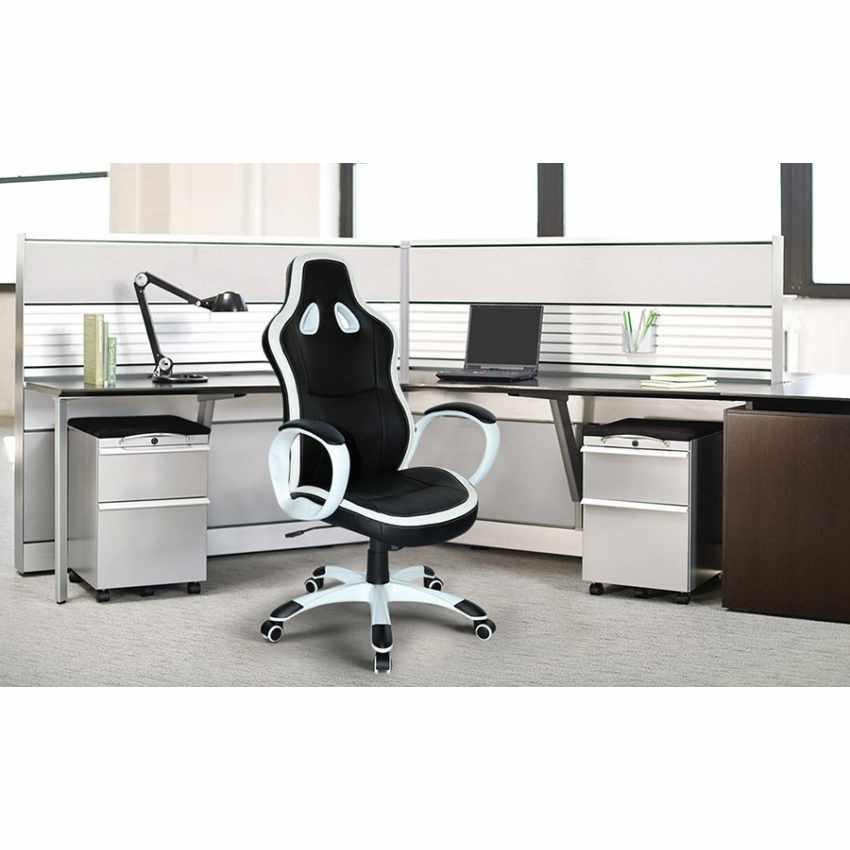 Sedia da Gaming e Ufficio in Ecopelle Ergonomica Stile Racing SUPER SPORT - interno