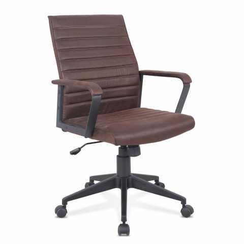 SU001LIN - Poltrona ufficio elegante sedia ecopelle ergonomica LINEAR - outlet