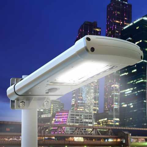 LS025LED - Lampione a 24 Led Solare crepuscolare Strada e Giardino STREET - basso prezzo