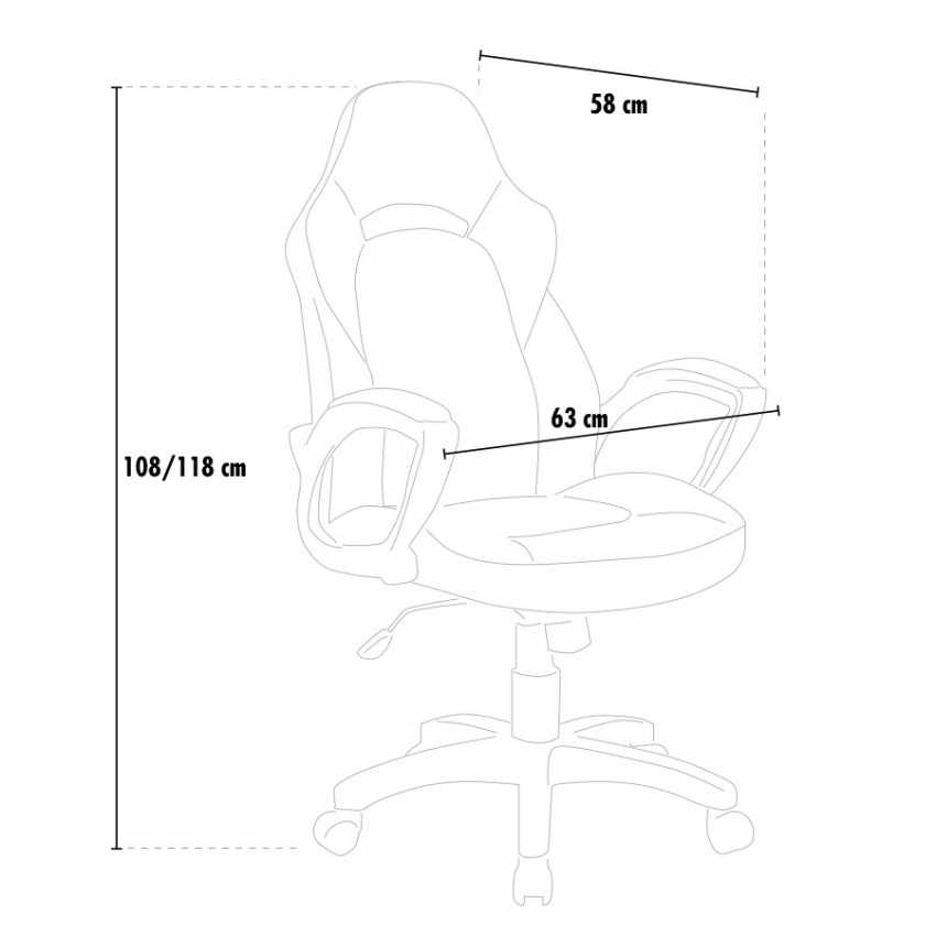 Sedia da Ufficio e Gaming Ergonomic Racing Design PRO - vendita