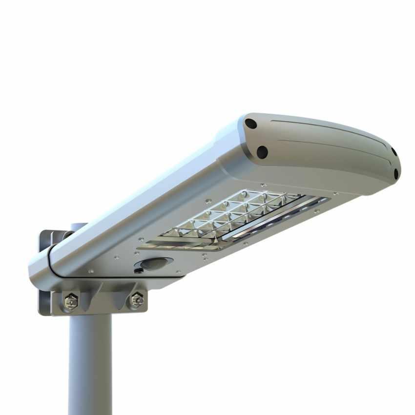 Lampione con 24 LED a Energia Solare con Sensore Crepuscolare STREET - promo