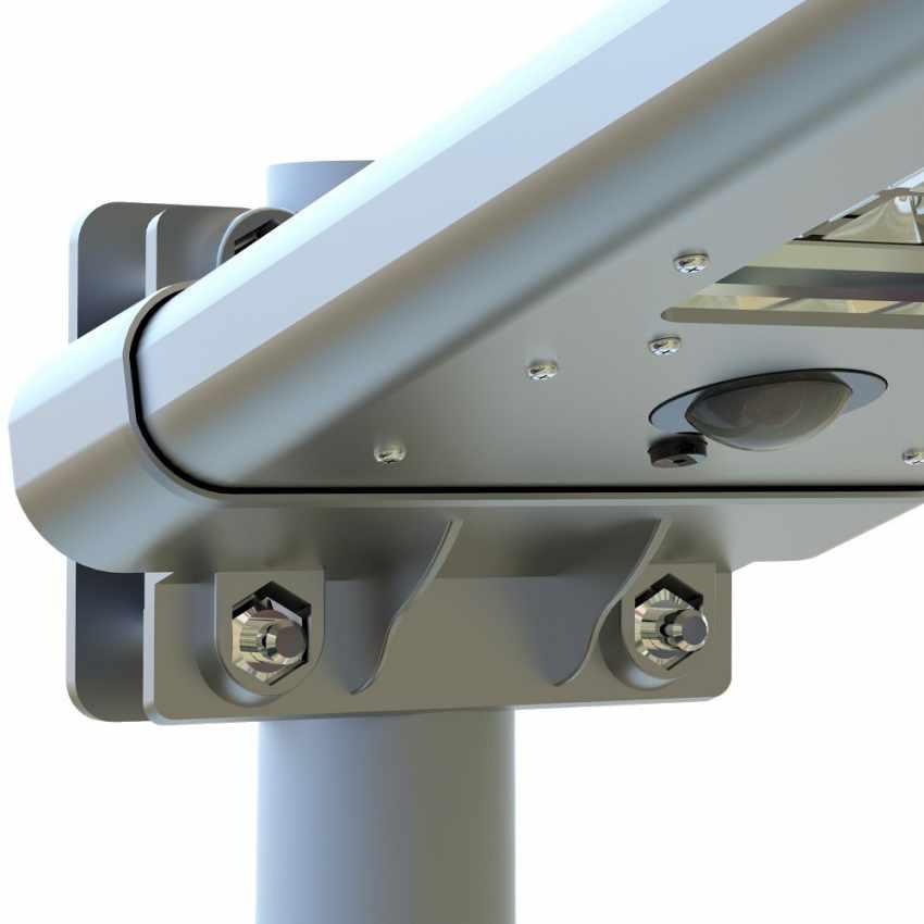 Lampione con 24 LED a Energia Solare con Sensore Crepuscolare STREET - esterno
