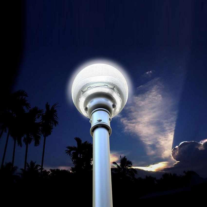 Lampione LED a Energia Solare 1.2K Lumen per Giardino Strada TITANO - migliore