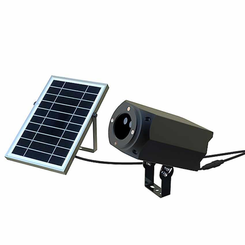 LL019COL - Proiettore Luce Laser Led Natale Facciata CHRISTMAS con Pannello Solare - economico