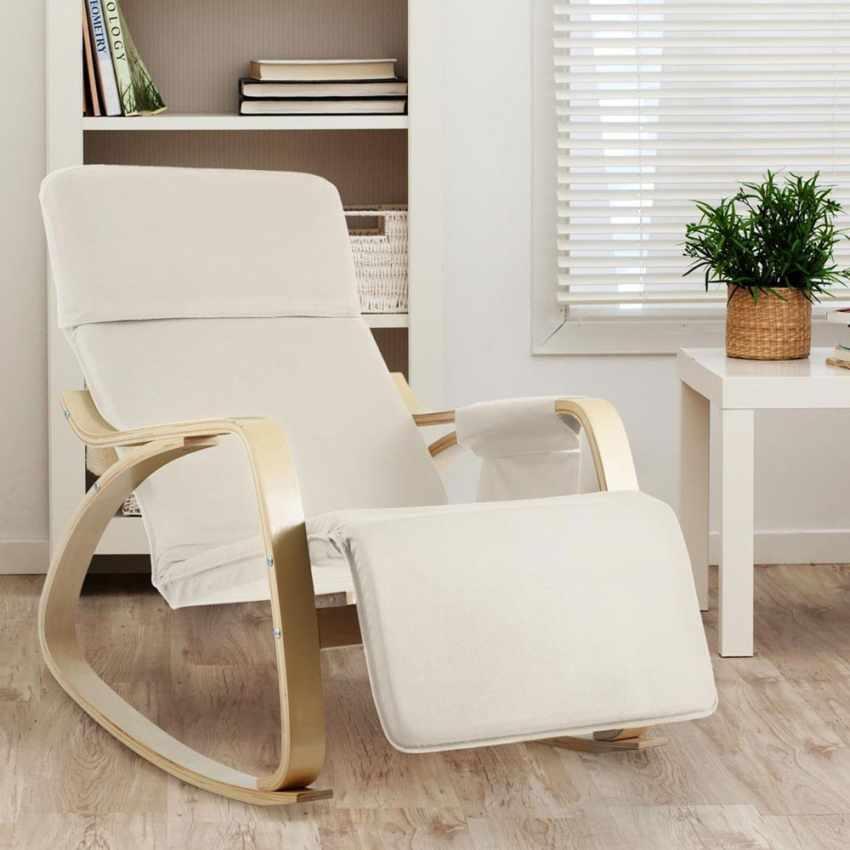 Sedia a Dondolo regolabile in legno RELAX ergonomica - immagine