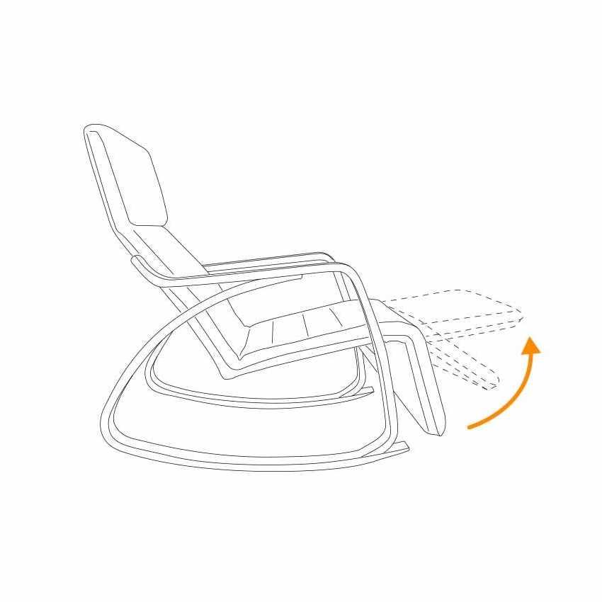 Sedia a Dondolo regolabile in legno RELAX ergonomica - interno