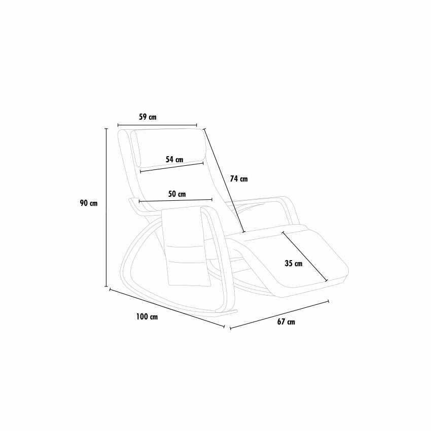 Sedia a Dondolo regolabile in legno RELAX ergonomica - dettaglio