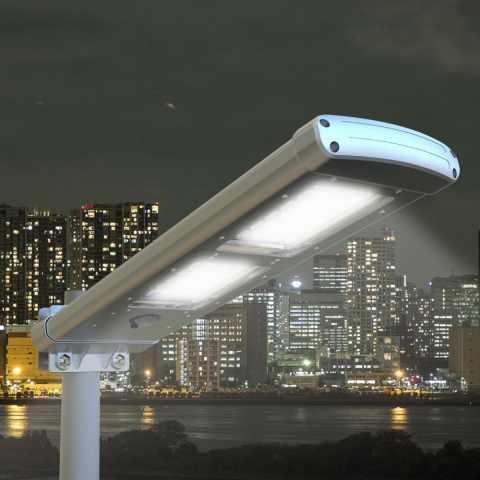 lampione led a energia solare pannello integrato