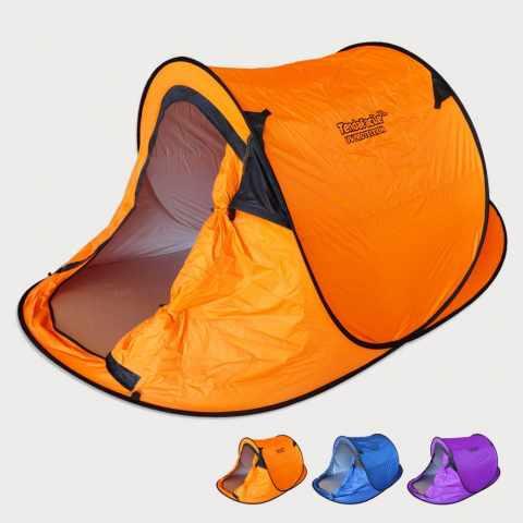 tenda da spiaggia campeggio apertura intelligente arancione