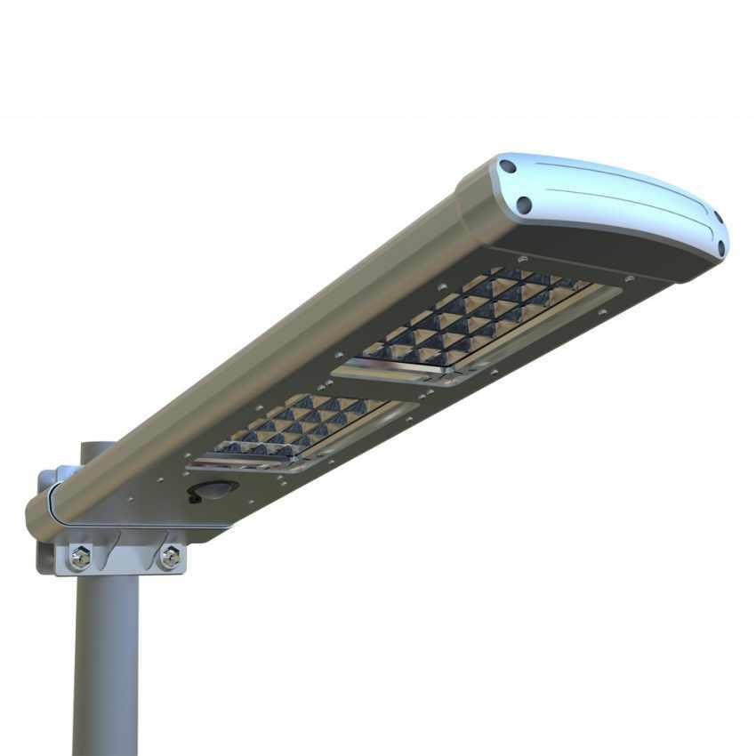 LS049LED - Lampione stradale solare giardino esterni strade 48 Super led PATHWAY - beige
