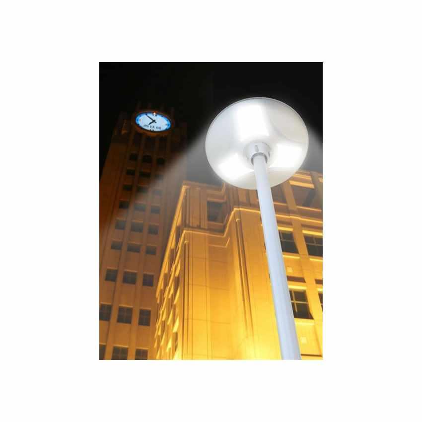 LS040LED - Lampione stradale energia solare led strade viali PLACE - grigio
