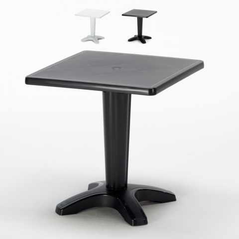 S6933B - Tavolino Grand Soleil ZAVOR quadrato polipropilene bar esterno 70x70 - fronte