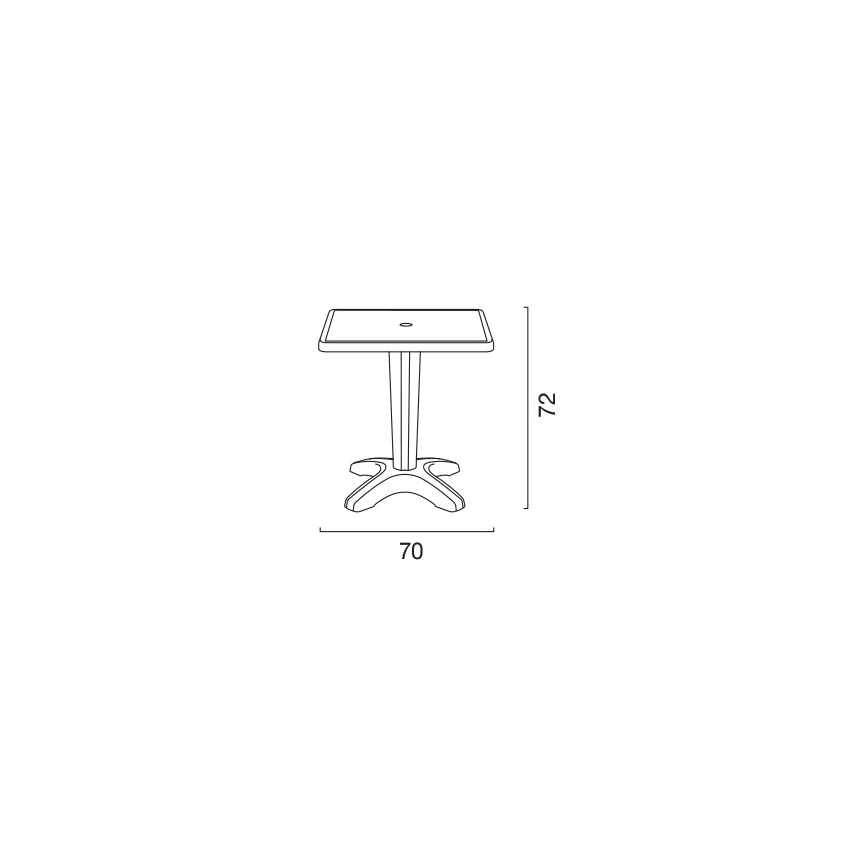 Tavolino Quadrato da Esterni Bar Ristorante Zavorrabile 70x70 ZAVOR - offerta