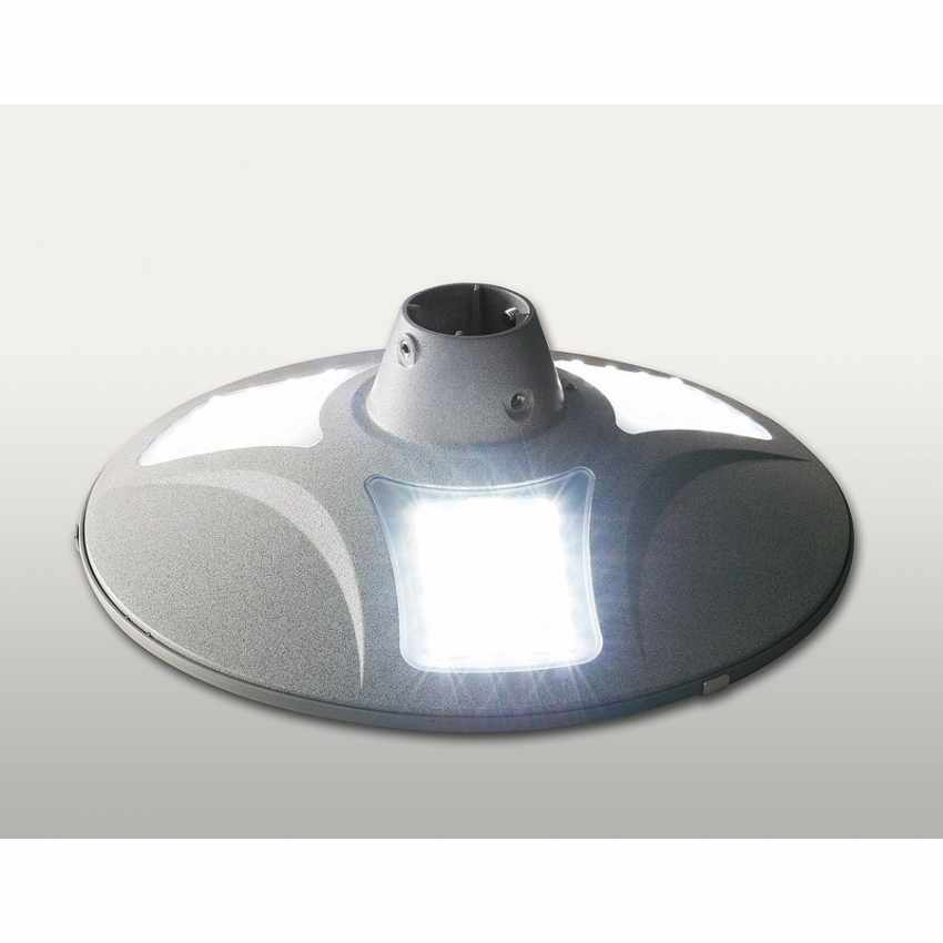 LS040LED - Lampione stradale energia solare led strade viali PLACE - trasparente