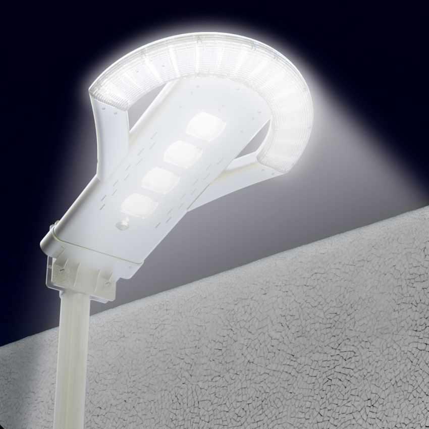 LS240LED - Lampione stradale led ad energia solare 2500 Lumen per viali parcheggi e strade UFO - crema