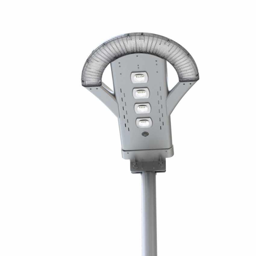 LS240LED - Lampione stradale led ad energia solare 2500 Lumen per viali parcheggi e strade UFO - bianco