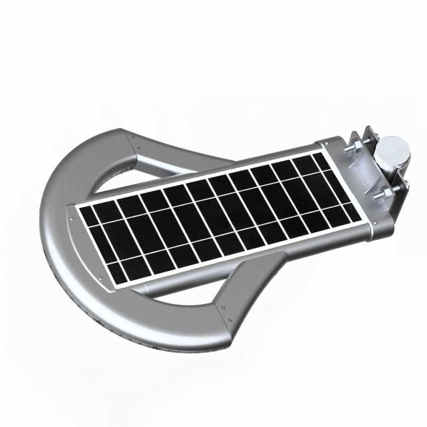 LS240LED - Lampione stradale led ad energia solare 2500 Lumen per viali parcheggi e strade UFO - particolare