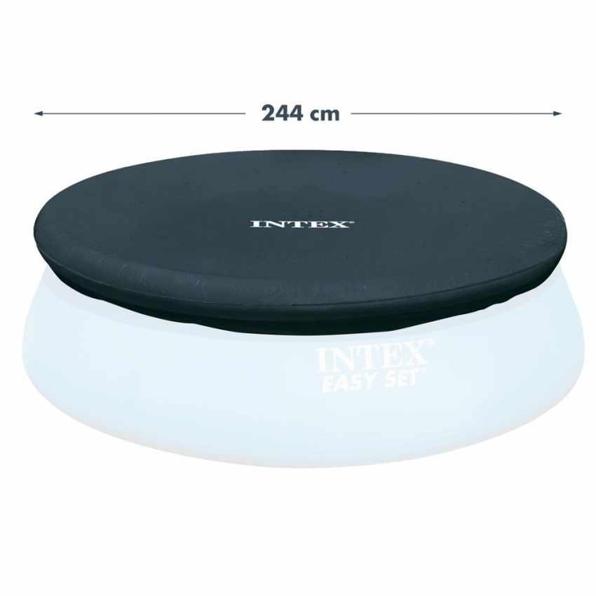 28020 - Telo copertura piscine Intex 28020 universale fuori terra rotonda 244 cm - retro
